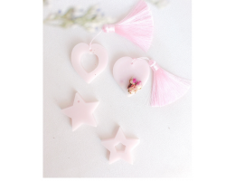 "Floral ""Hearts and Stars"" Scented Wax Tarts (4 Pieces Set)"