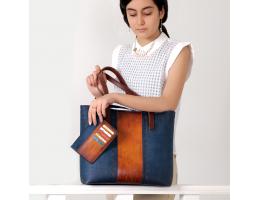 MARJAN Blue Tote Bag