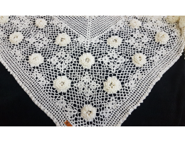 Shawl with Natural Pearls