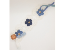 Crochet Denim Bracelet