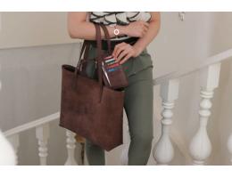 YAS Rustic Chair Brown Tote Bag