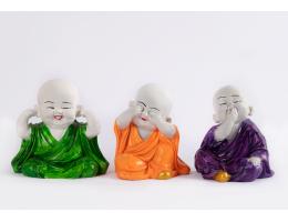 Big Buddha Monks - Set of 3
