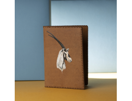 Passport Case with Hand-Painted Oryx