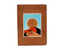 Passport Case with Hand-Painted Dessert