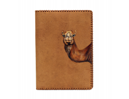 Passport Case with Hand-Painted Camel