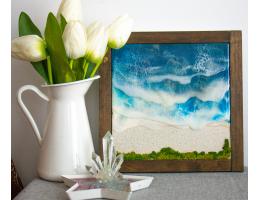 Resin 3D Beach Art
