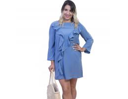 La Heredia Mini Dress with Ruffles