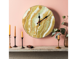 Luxurious Resin Art Wall Clock