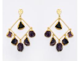 Laila Earrings - Amethyst