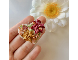 Handmade Polymer Clay Flower Earrings