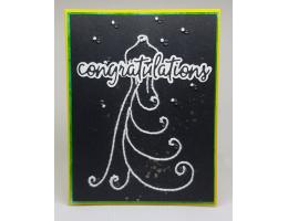 Stitched Wedding Congratulations Card