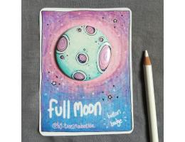 Full Moon - Button Badge