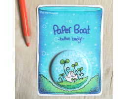 Paper Boat - Button Badge