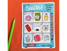 Snacks Vending Machine - Sticker Sheet