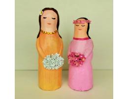 Handmade & Handpainted Flower Girl Figurine - Home Decoration