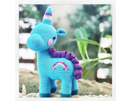 Rainbow Crochet Unicorn