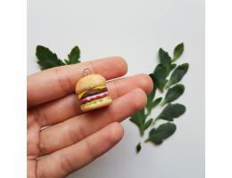 Polymer Clay Handmade Burger Charm