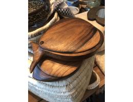 Handmade Wooden Fish Decorative Plate