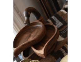 Handmade Wooden Three Layers Duck Platter