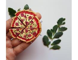 Polymer Clay Handmade Pizza Charm