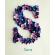 Flower Letter Personalized Frame - Girls Bedroom Décor (Medium)